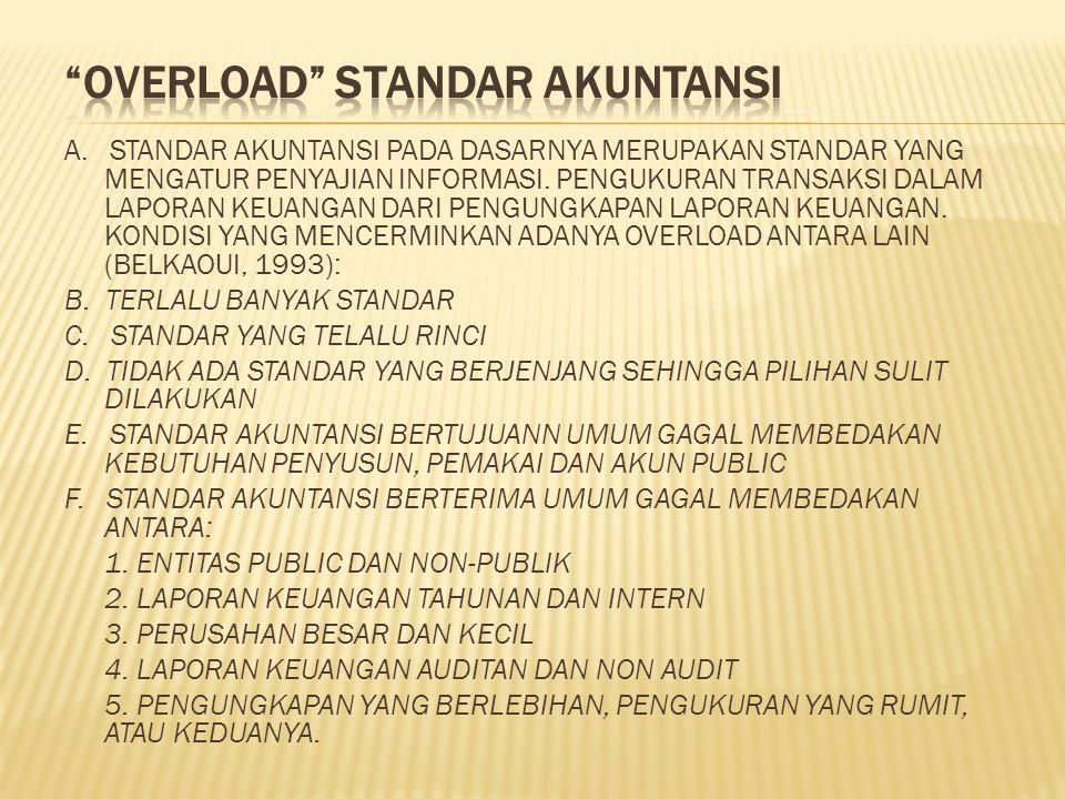 A.STANDAR AKUNTANSI PADA DASARNYA MERUPAKAN STANDAR YANG MENGATUR PENYAJIAN INFORMASI.