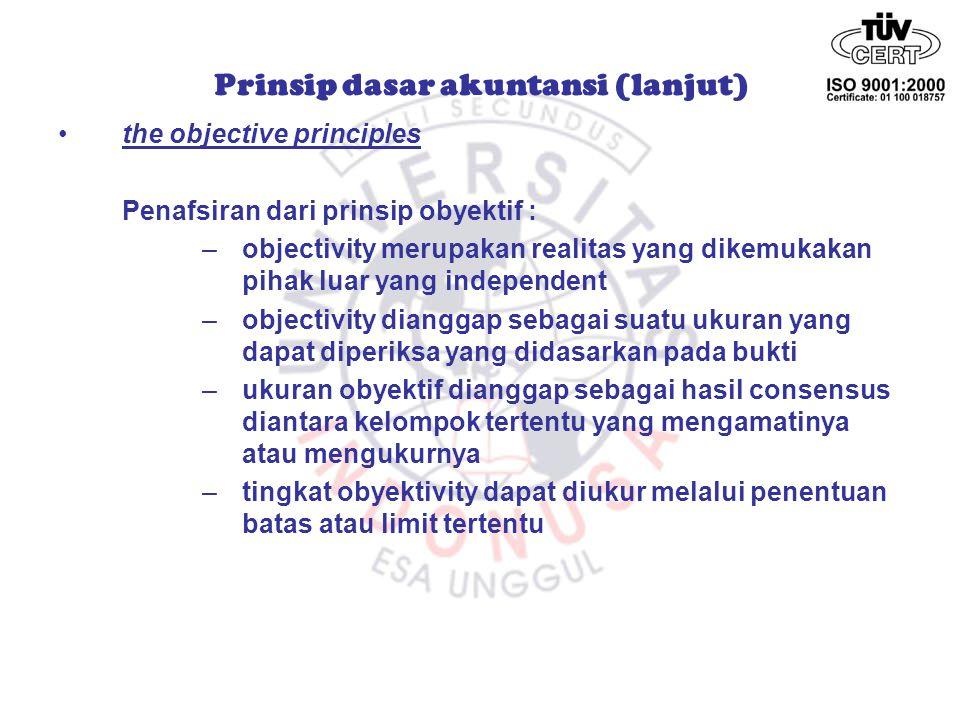 the matching principles prinsip ini mengatur agar pembebanan biaya harus dilakukan pada periode yang sama dengan periode pengakuan hasil dan biaya akan dibebankan sesuai dengan periode itu.