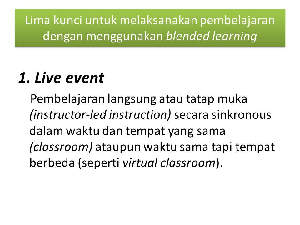 Lima kunci untuk melaksanakan pembelajaran dengan menggunakan blended learning 1.