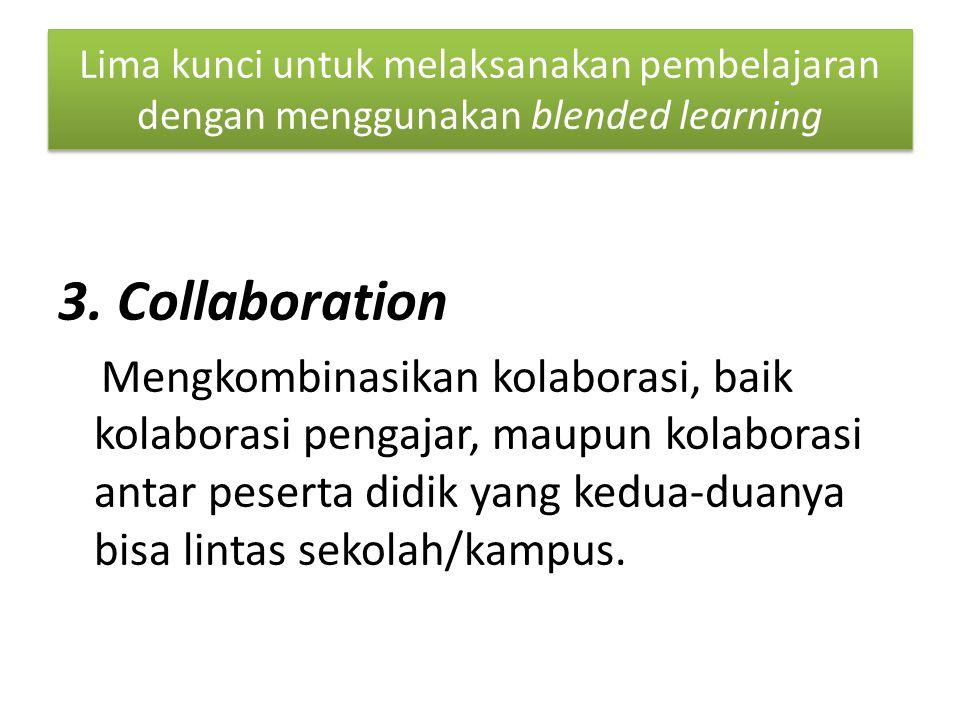 Lima kunci untuk melaksanakan pembelajaran dengan menggunakan blended learning 3.