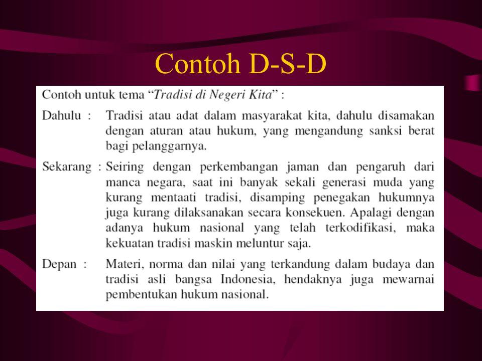 Contoh D-S-D