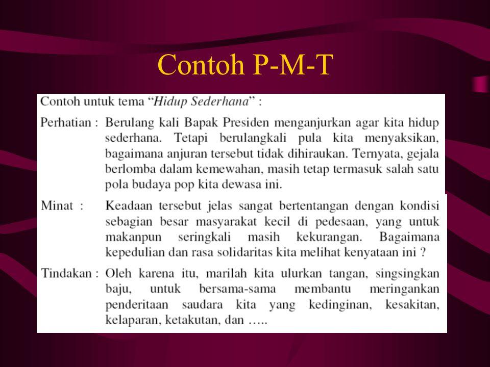 Contoh P-M-T