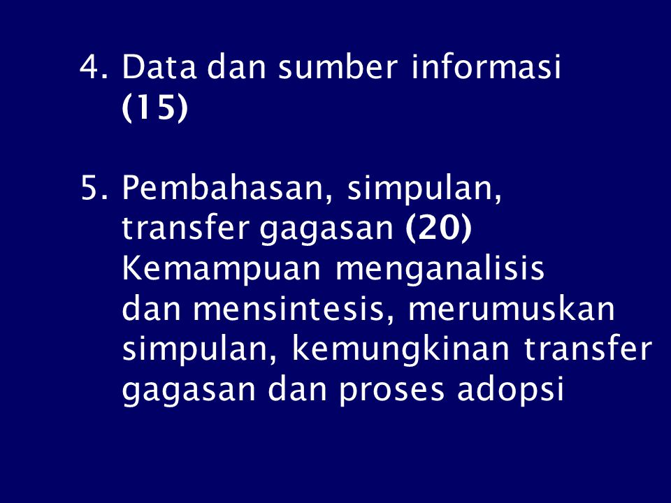 4.Data dan sumber informasi (15) 5.