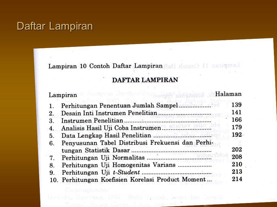Daftar Lampiran