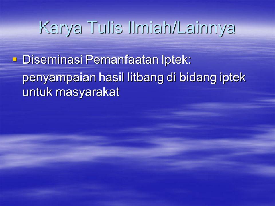 Standar Isi KTI (Diklat Jafung Peneliti Tk.I LIPI) 1.Judul 2.Nama dan Alamat Penulis 3.Abstrak (intisari) 4.Kata Kunci 5.Pendahuluan a.