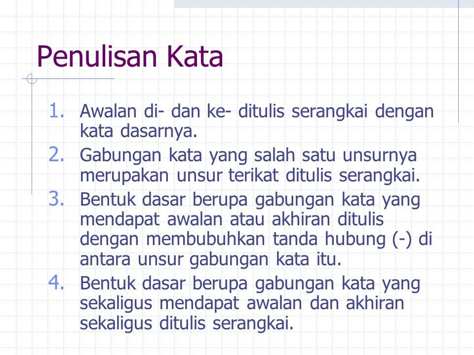 Penulisan Kata 5.