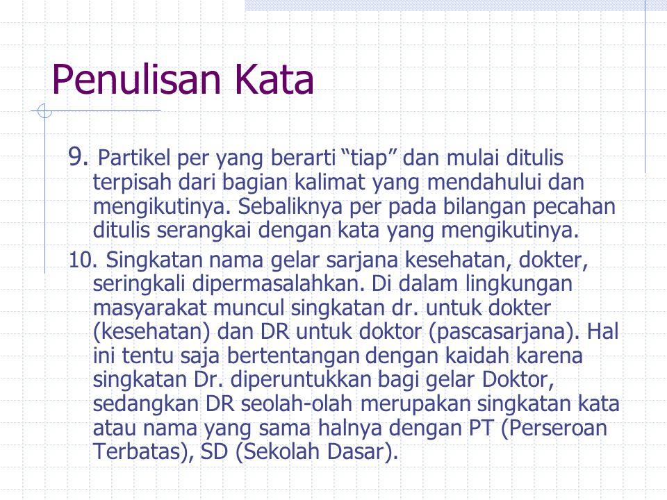 Penulisan Kata 11.