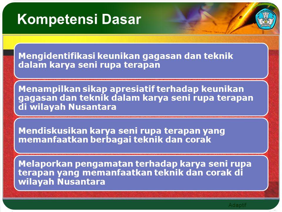 Adaptif Kompetensi Dasar