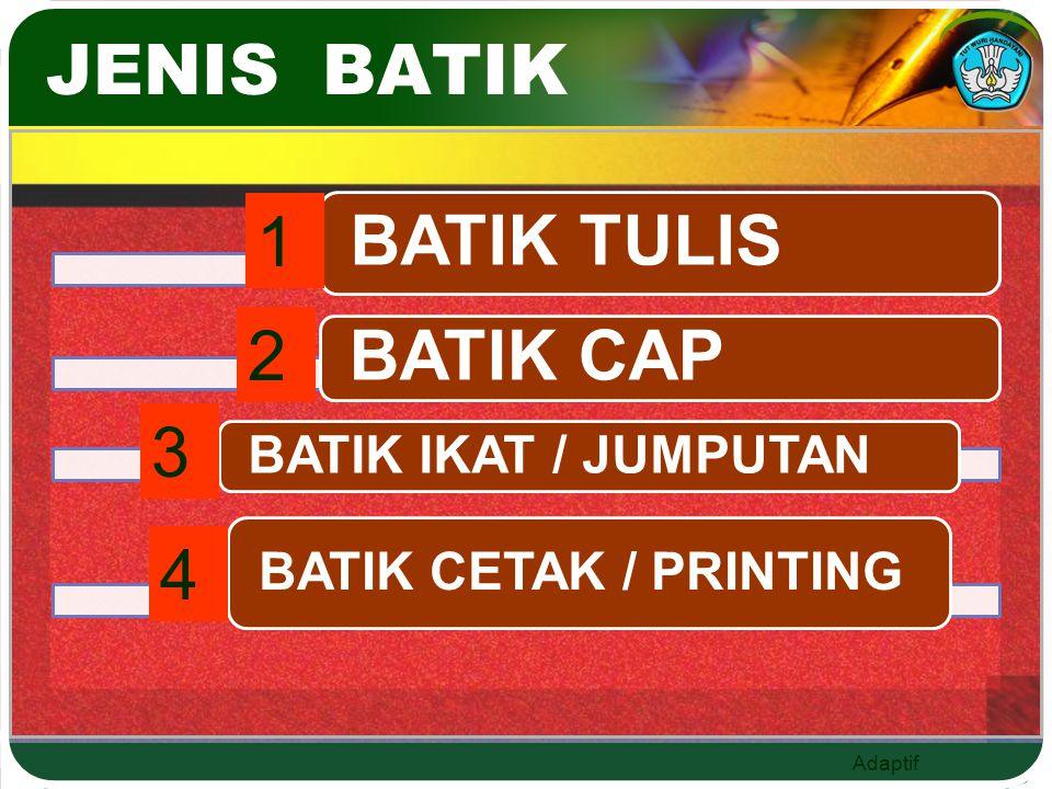 Adaptif JENIS BATIK 1 2 3 4