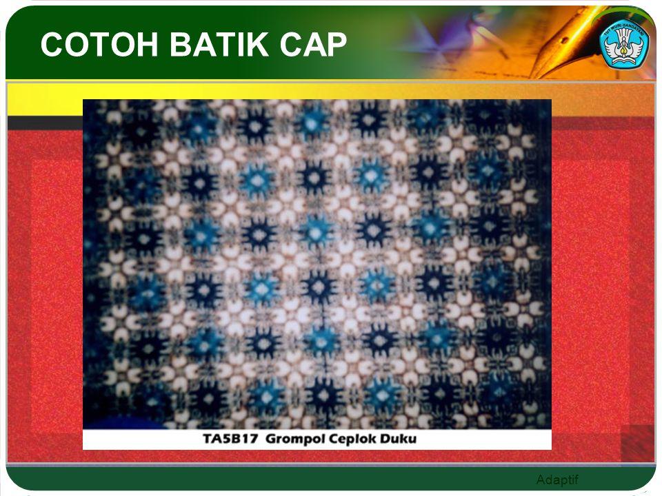 Adaptif COTOH BATIK CAP