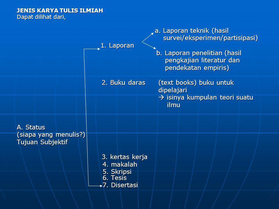 B.Tujuan Objektif (isinya apa?)/ Tujuan praktis praktis 1.