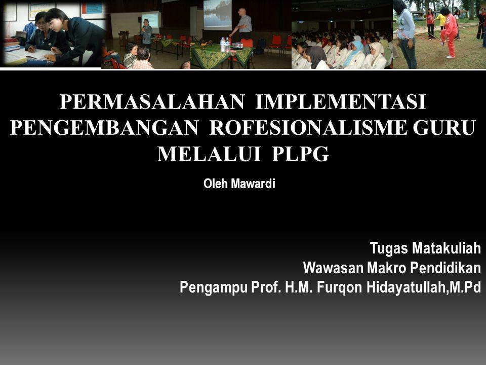 Tugas Matakuliah Wawasan Makro Pendidikan Pengampu Prof.