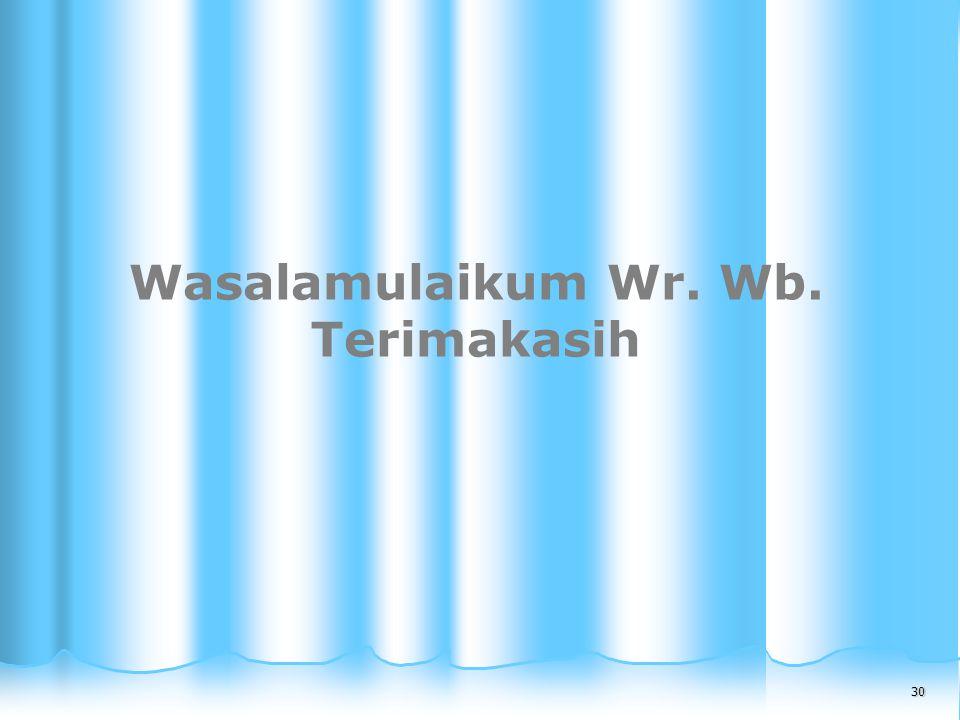 30 30 Wasalamulaikum Wr. Wb. Terimakasih