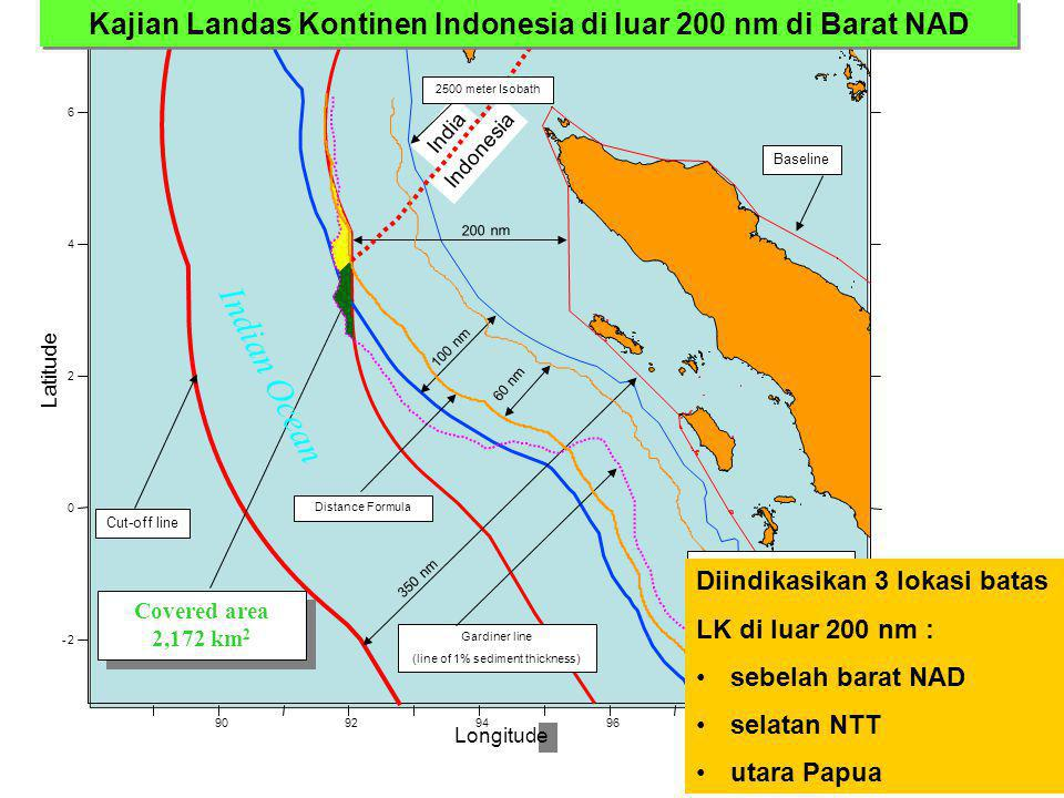 India Indonesia Longitude 9092949698 -2 0 2 4 6 Baseline 350 nm Gardiner line (line of 1% sediment thickness) 100 nm Covered area 2,172 km 2 Covered a
