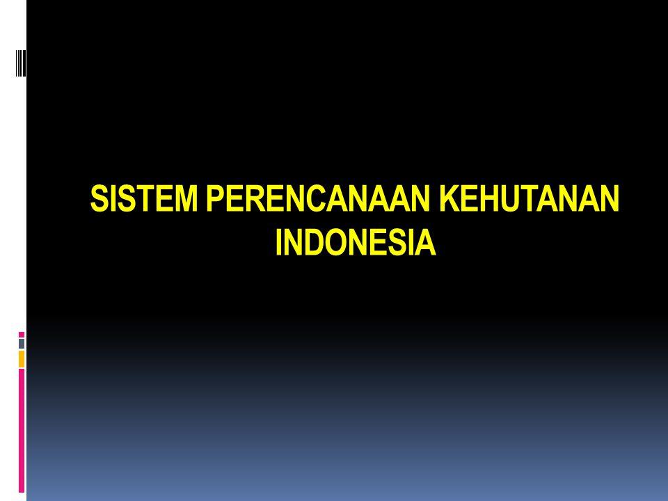 SISTEM PERENCANAAN KEHUTANAN INDONESIA