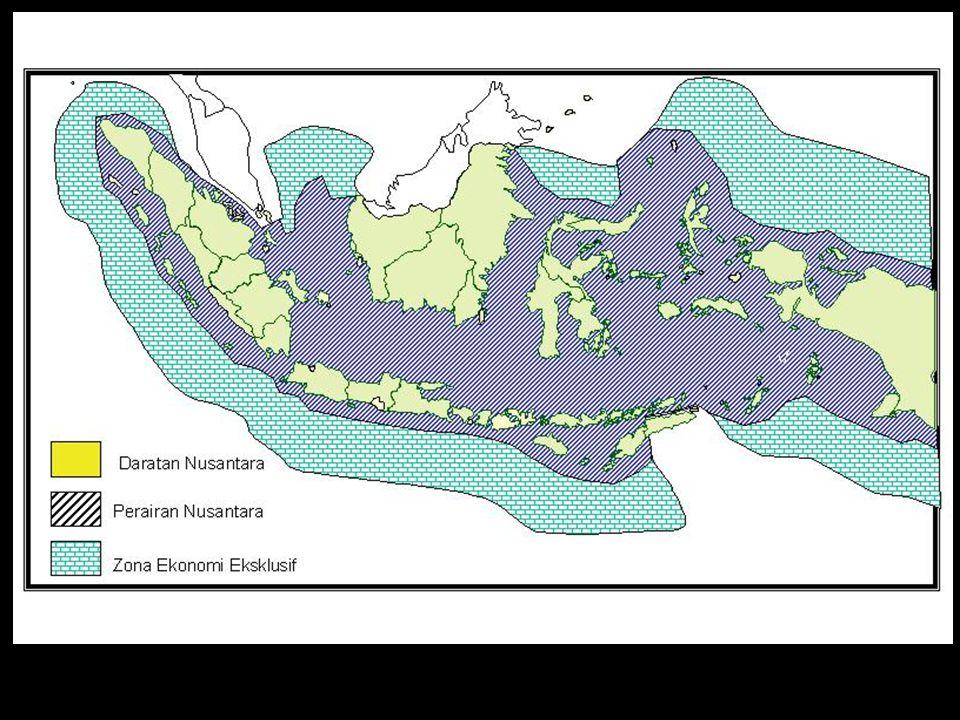 Undang – Undang Batas Wilayah NKRI Bersifat Umum UU 4 / 1960 Tentang Titik Dasar Dan Garis Pangkal Negara Kepulauan : Semua Wilayah Darat dan Laut Di dalam garis pangkal adalah wilayah NKRI UU 17 / 1985 Tentang Ratifikasi Konvensi Hukum Laut 1982