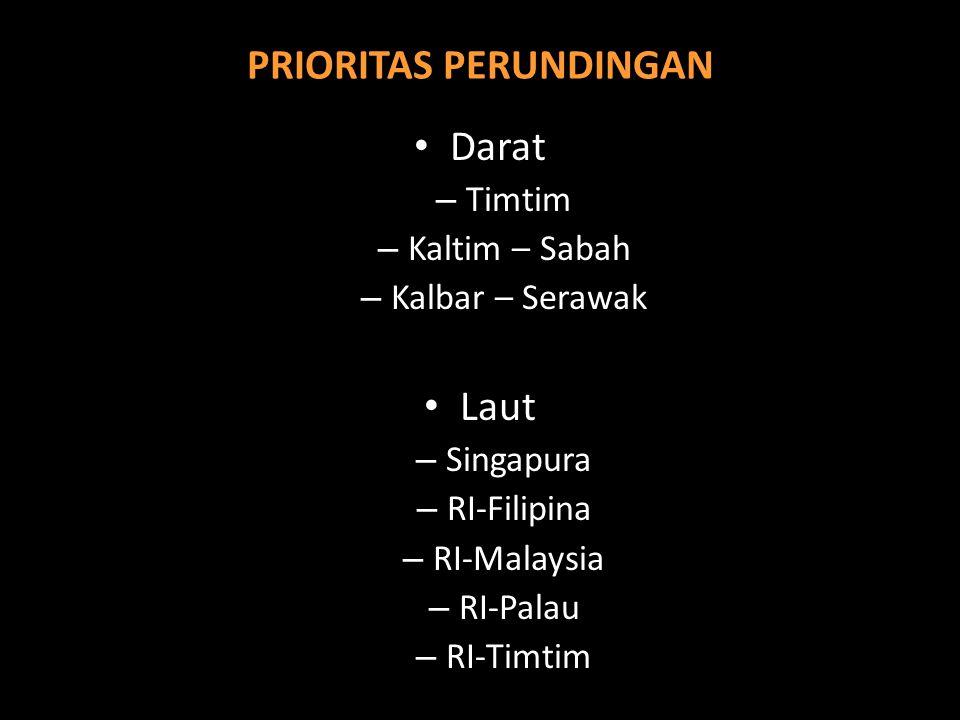 PR PENENTUAN BATAS : DEMARKASI BATAS DARAT DAN DELIMITASI BATAS LAUT Batas Darat (1)RI-Malaysia (2)RI-Timtim Laut (1)Batas Kedaulatan Berupa Batas Lau