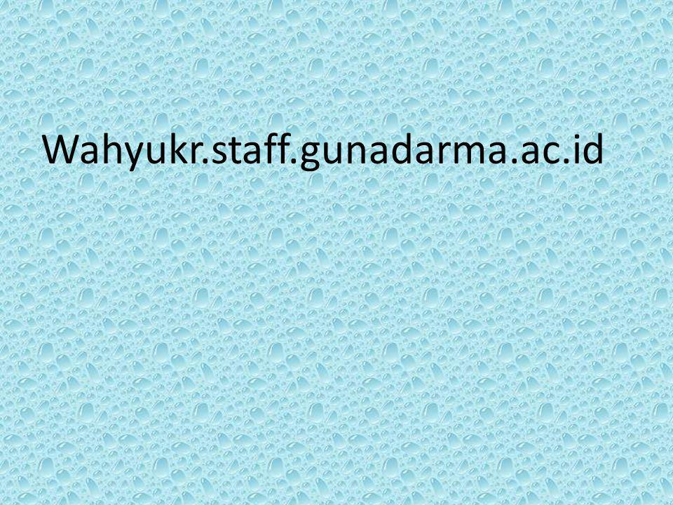 Wahyukr.staff.gunadarma.ac.id