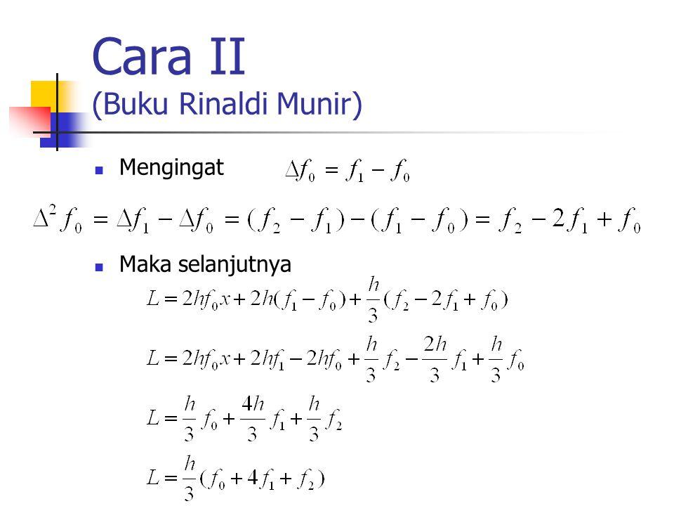 Cara II (Buku Rinaldi Munir) Mengingat Maka selanjutnya