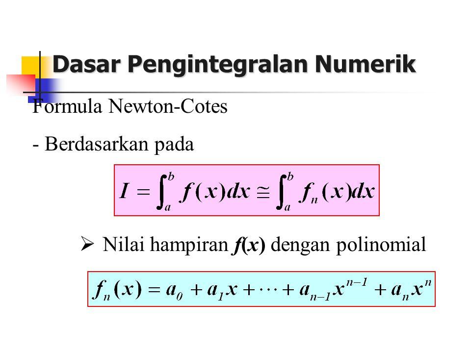 Cara II (Buku Rinaldi Munir) Integrasikan p2(x) pd selang [0,2h]