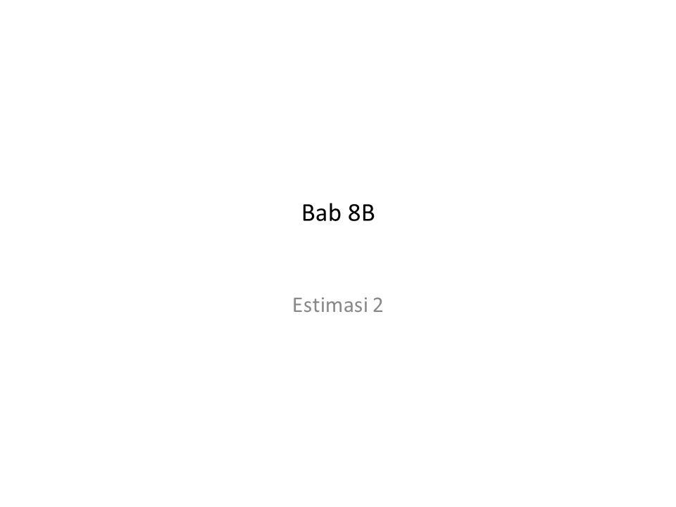 Bab 8B Estimasi 2