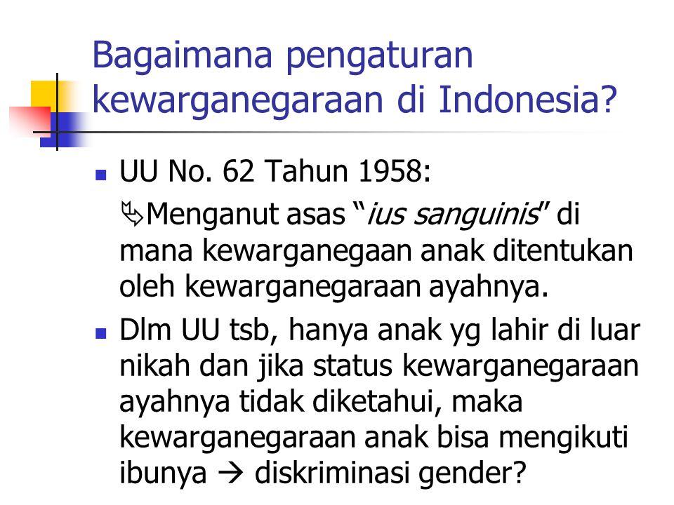 Bagaimana pengaturan kewarganegaraan di Indonesia.