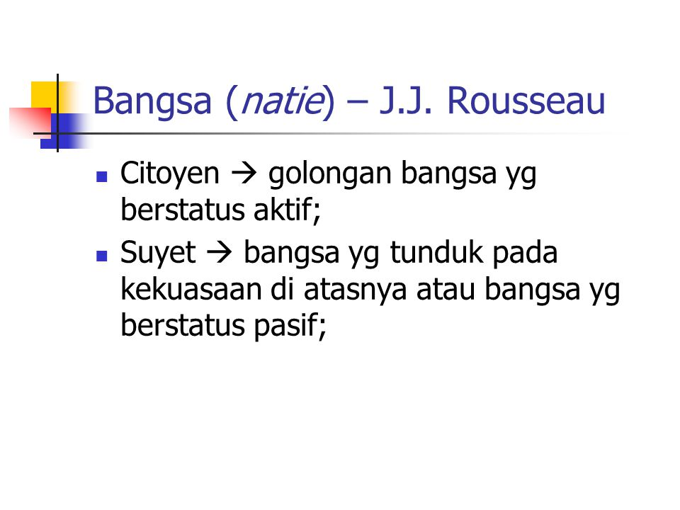 Bangsa (natie) – J.J.