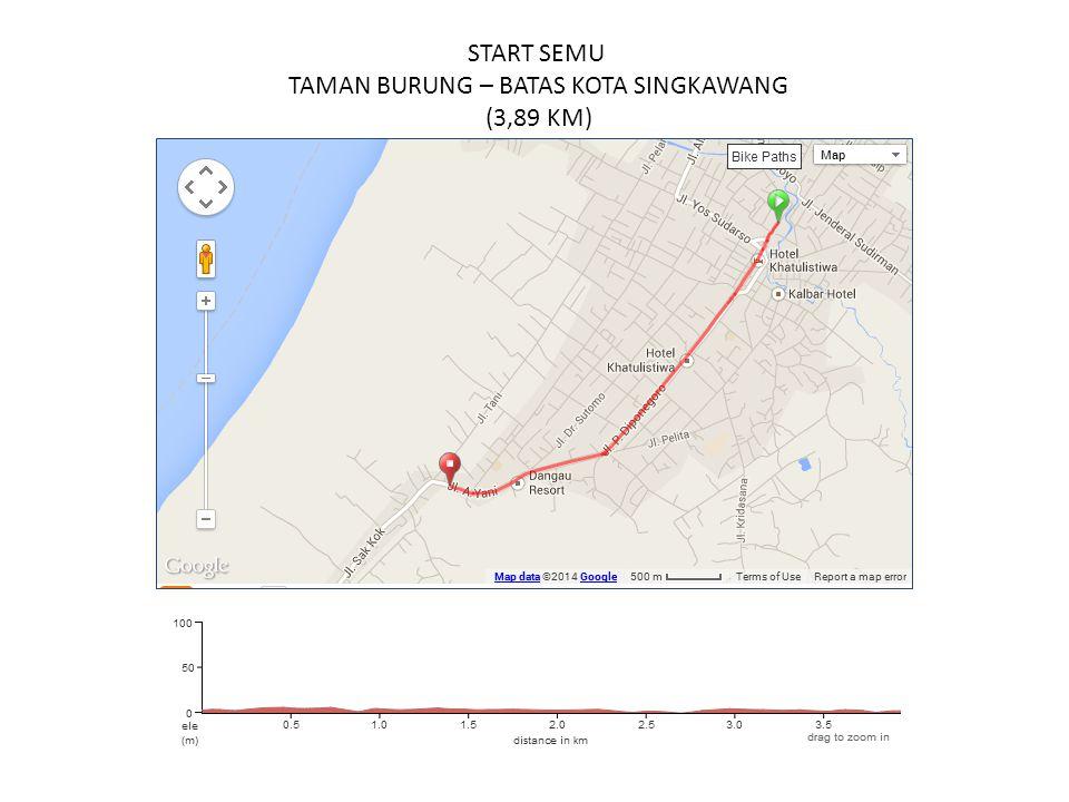 START SEMU TAMAN BURUNG – BATAS KOTA SINGKAWANG (3,89 KM)