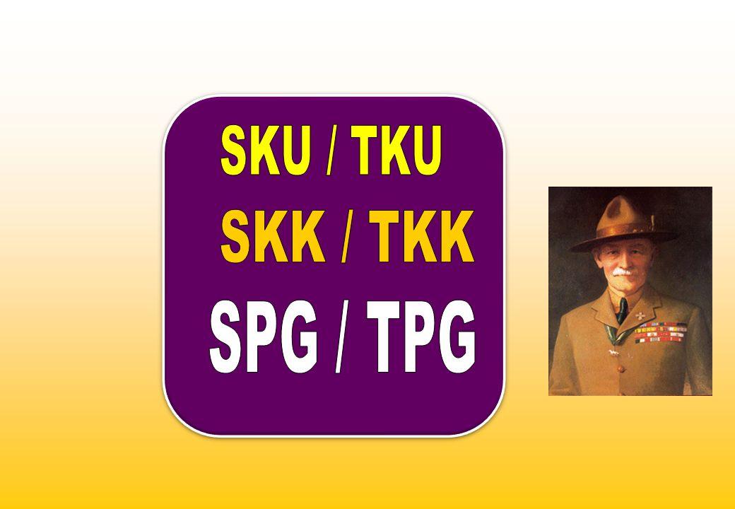a.SKU, sbg alat pendidikan, merupakan rangsangan dan dorongan bagi Pramuka untuk memperoleh kecakapan yg berguna baginya, agar mencapai kemajuan, dan memenuhi persyaratan sbg anggota GP.