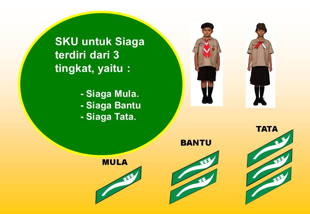 SKU untuk Siaga terdiri dari 3 tingkat, yaitu : - Siaga Mula. - Siaga Bantu - Siaga Tata.