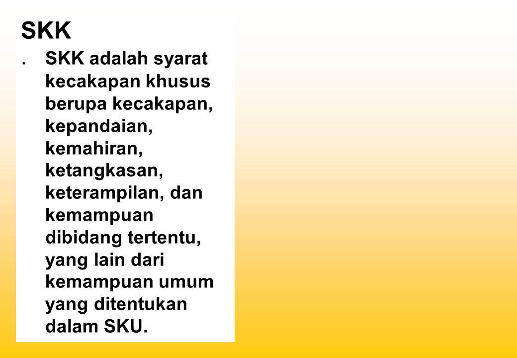 -TKK sbg alpend, merupakan rangsangan dan dorongan bagi para Pramuka untuk memperoleh kecakapan, dan keterampilan yang berguna bagi kehidupan dan penghidupannya sesuai dengan bakat dan keinginannya shg mendorong semangat sbg wiraswastawan di masa mendatang.