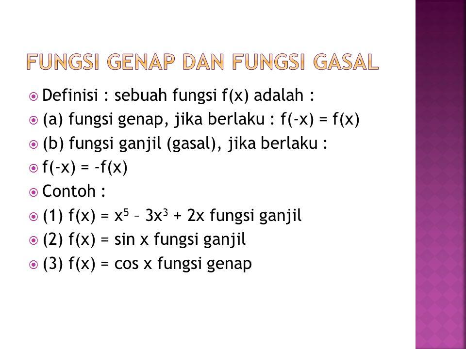 DERET SINUS/COSINUS FOURIER SETENGAH JELAJAH  Deret sinus atau cosinus Fourier setengah jelajah adalah deret Fourier yang hanya mengandung suku-suku dari fungsi sinus atau cosinus saja (termasuk konstan).