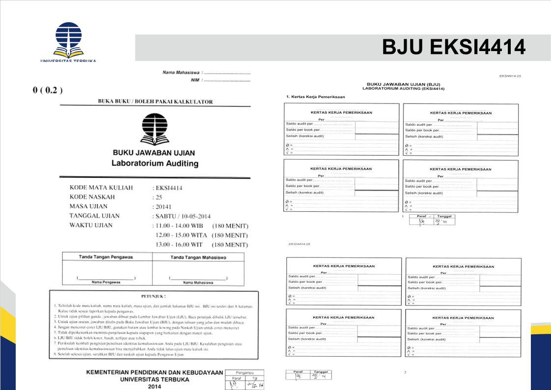 PERCEPATAN PENGUMUMAN UAS (2)  Pusjian mengirimkan data pendukung pemeriksaan BJU ke UPBJJ Sentra (melalui email) paling lambat 1 bulan sebelum pelaksanaan UAS.