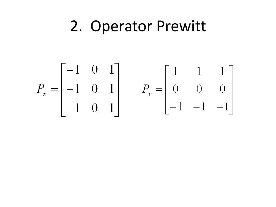 Hasil deteksi tepi dengan Operator Prewitt