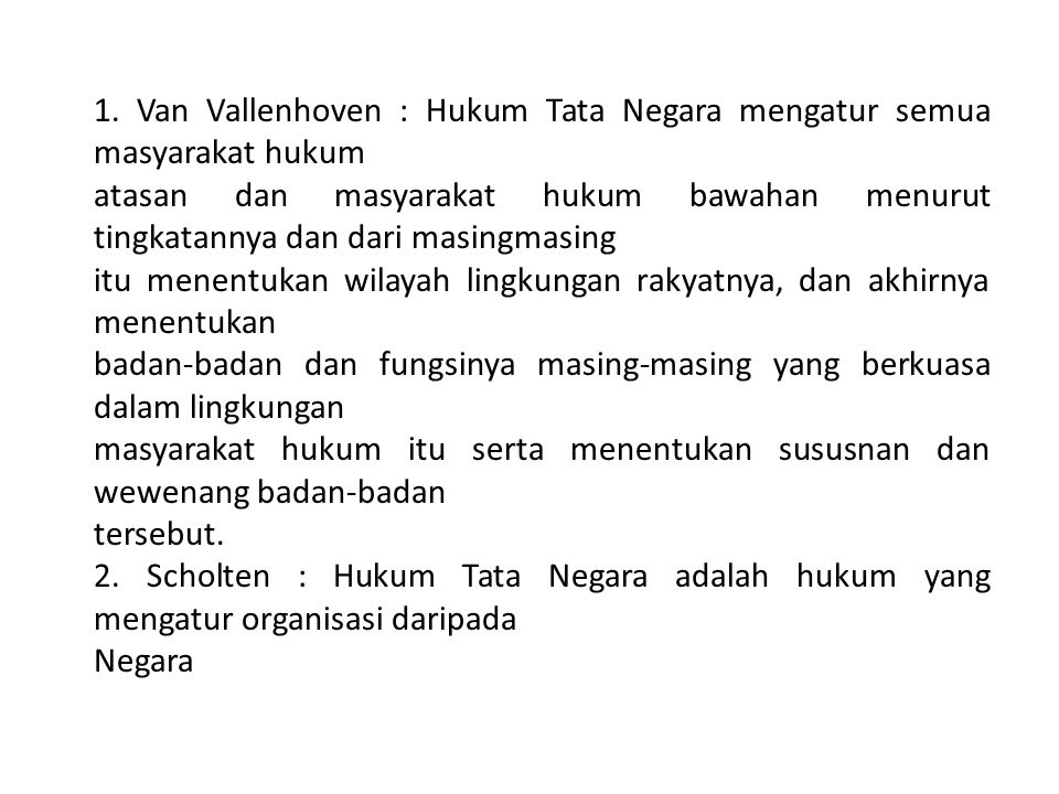 Definisi Hukum Tata Negara