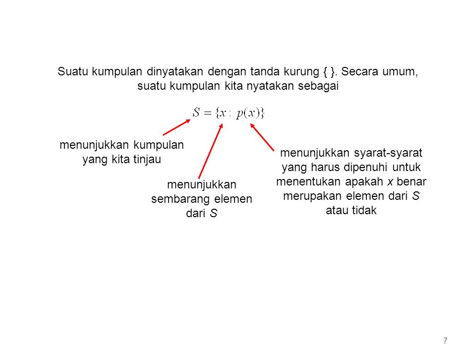 Contoh R adalah kumpulan dari semua bilangan nyata 8