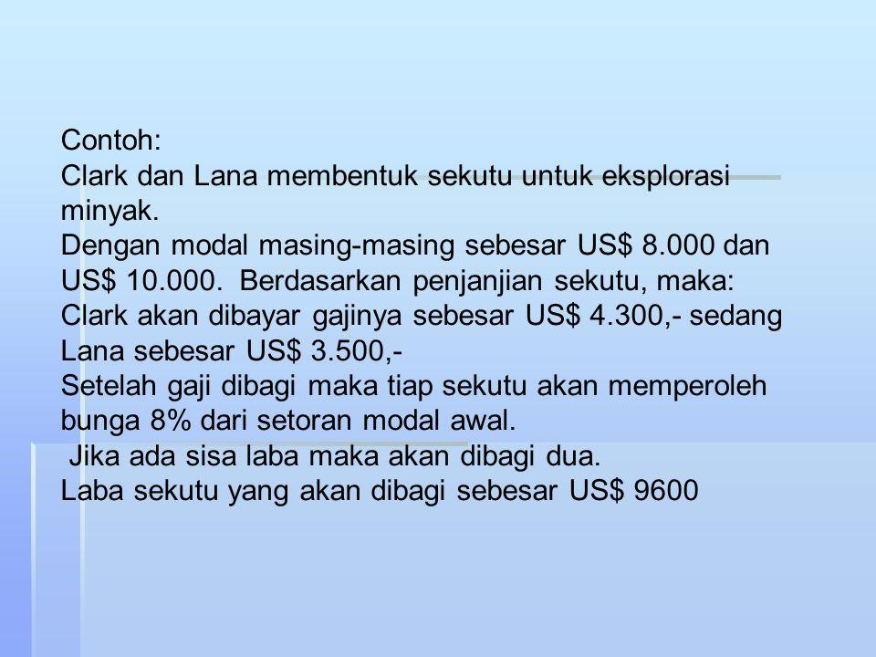 Metode lainnya untuk pembagian laba rugi persekutuan 1.Laba rugi dibagi berdasarkan gaji dan bunga kepada sekutu 2.Laba rugi dibagi berdasarkan bonus