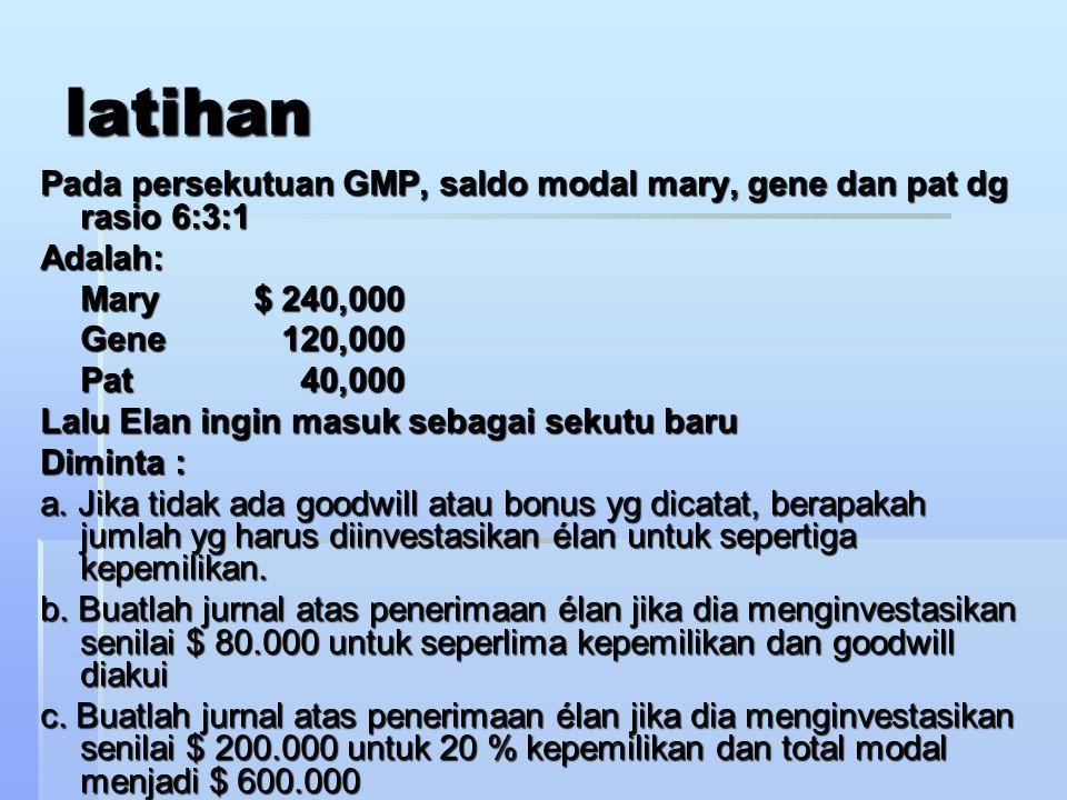 B. MELANJUTKAN BUKU PERSEKUTUAN 1. MENCATAT PENILAIAN KEMBALI HARTARp 10.000.000,-- MODAL SUSI-Rp 2.000.000,- MODAL SISI- 3.000.000,- MODAL SASA- 5.00