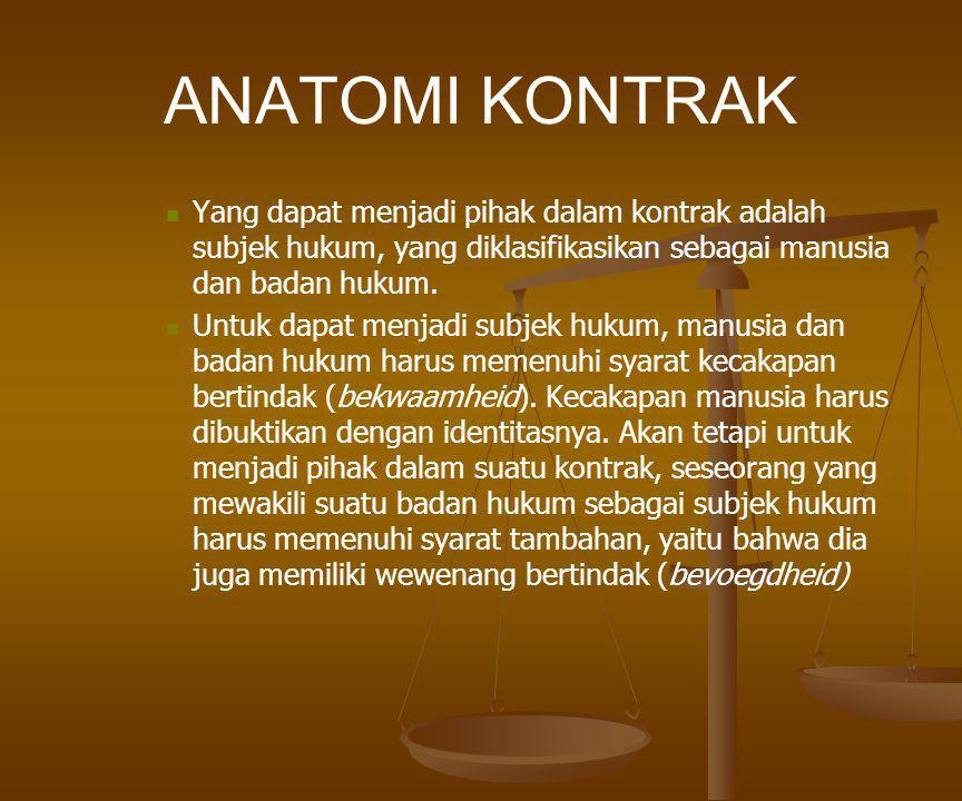 ANATOMI KONTRAK RECITALS (Pertimbangan-Pertimbangan Umum Kontrak).