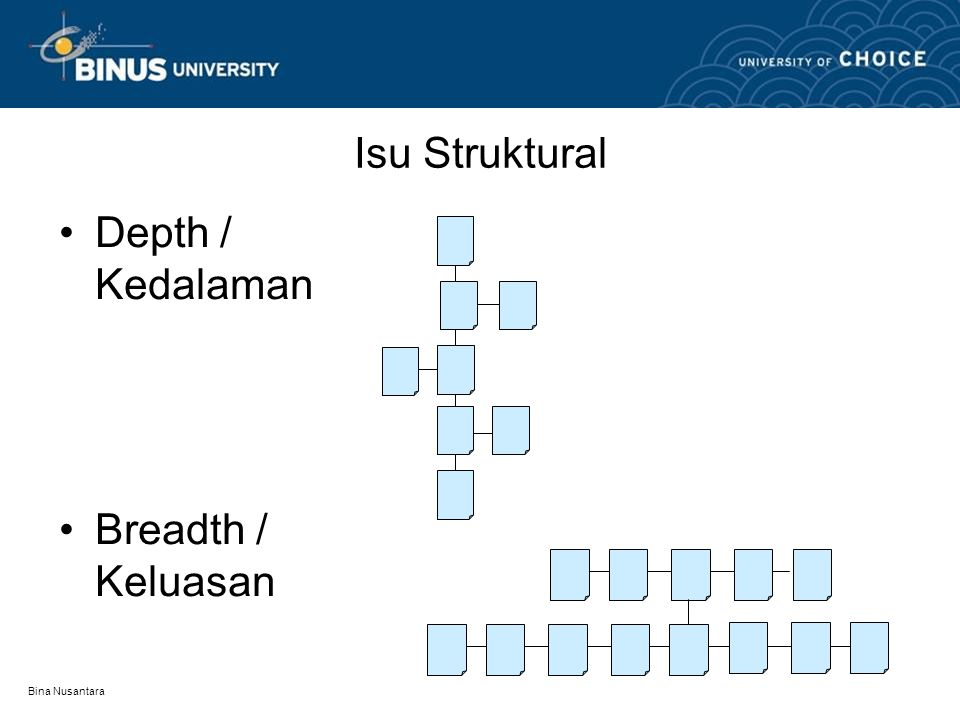 Bina Nusantara Isu Struktural Depth / Kedalaman Breadth / Keluasan