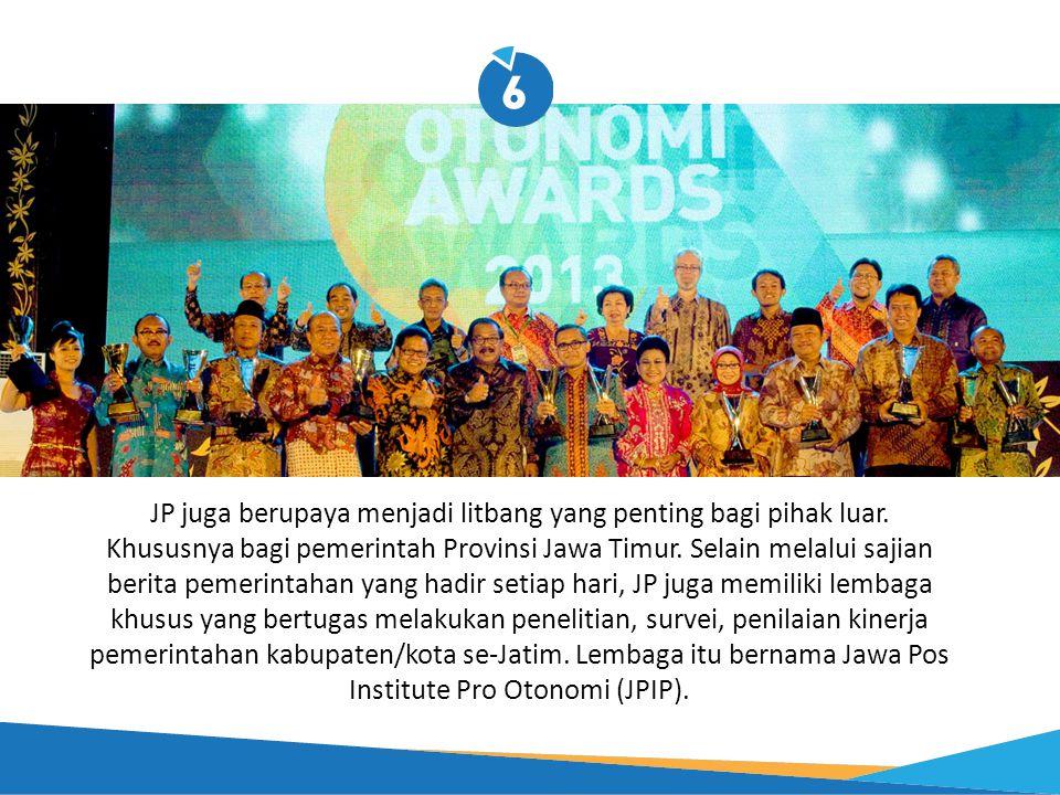 JP juga berupaya menjadi litbang yang penting bagi pihak luar. Khususnya bagi pemerintah Provinsi Jawa Timur. Selain melalui sajian berita pemerintaha