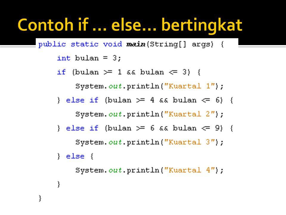  Java mengenal 3 buah perintah untuk memindahkan alur eksekusi program ke bagian lain dalam program.