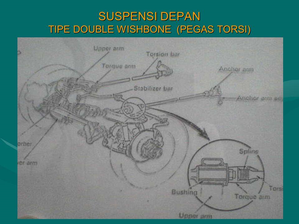 SUSPENSI DEPAN TIPE DOUBLE WISHBONE (PEGAS TORSI)