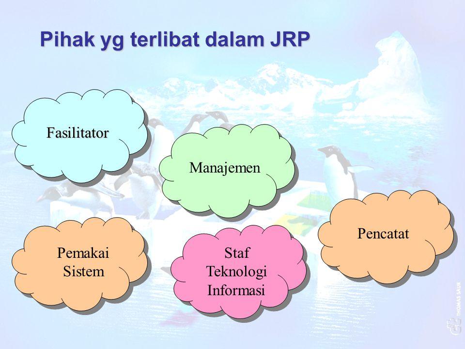Pihak yg terlibat dalam JRP Fasilitator Manajemen Pemakai Sistem Staf Teknologi Informasi Pencatat