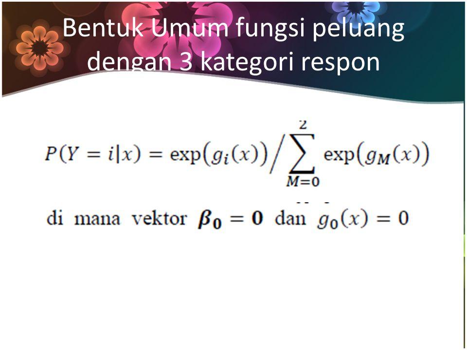 Bentuk Umum fungsi peluang dengan 3 kategori respon