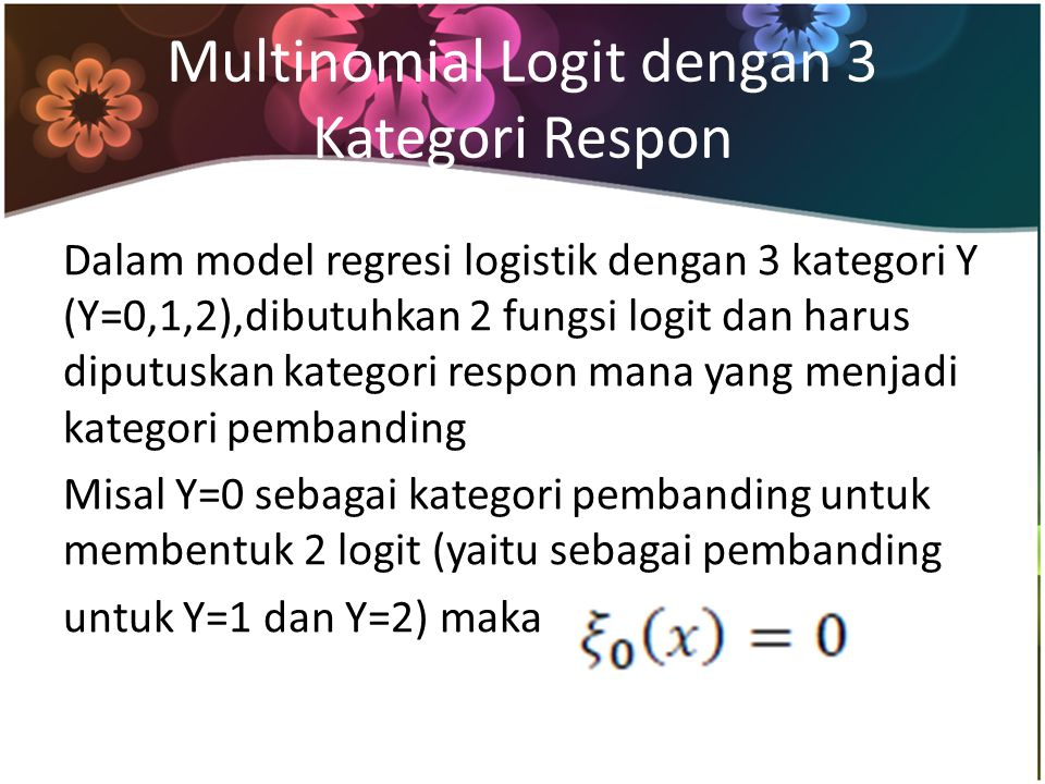 Nilai odds ratio model regresi logistik kedua