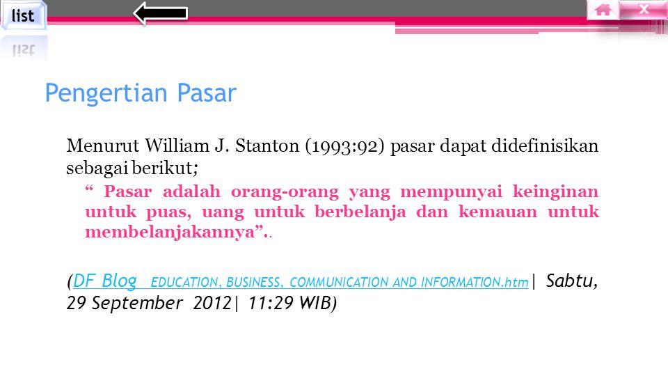 Menurut William J.