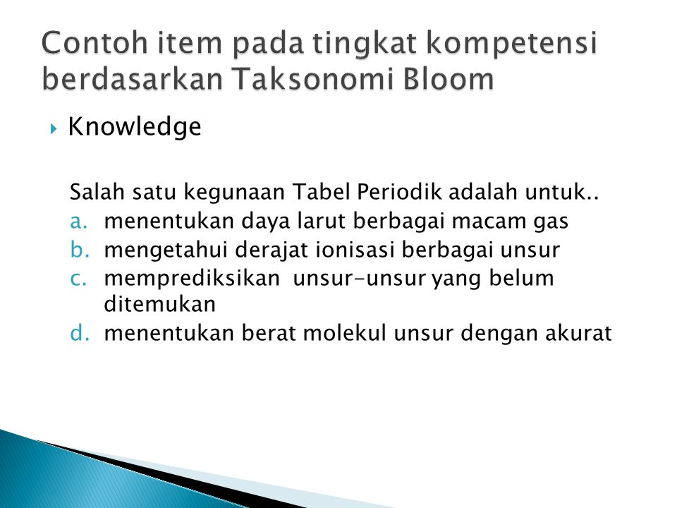  Knowledge Salah satu kegunaan Tabel Periodik adalah untuk..