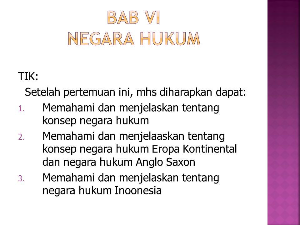Psl 1 ayat (3) UUD-1945: Negara Indonesia adalah negara hukum .