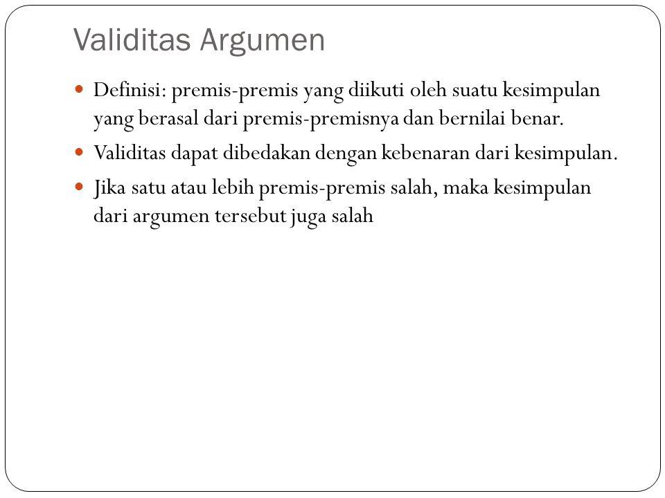 Logika Matematika Definisi: aturan-aturan logika yang menggunakan kaidah- kaidah matematika tersebut dipergunakan untuk membuktikan validitas suatu ar